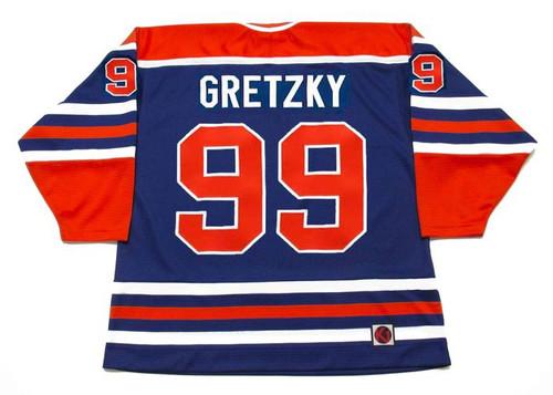 WAYNE GRETZKY Edmonton Oilers 1978 WHA Throwback Hockey Jersey - BACK