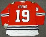 JONATHAN TOEWS Chicago Blackhawks 2010 REEBOK Throwback NHL Hockey Jersey - BACK