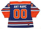 "EDMONTON OILERS 1970's WHA Throwback Hockey Jersey Customized ""Any Name & Number(s)"""