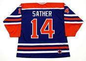 GLEN SATHER Edmonton Oilers 1976 WHA Throwback Hockey Jersey