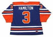 AL HAMILTON Edmonton Oilers 1975 WHA Throwback Hockey Jersey