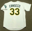 JOSE CANSECO Oakland Athletics 1989 Home Majestic Baseball Throwback Jersey - BACK