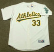 JOSE CANSECO Oakland Athletics 1989 Home Majestic Baseball Throwback Jersey - FRONT