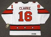 "BOBBY CLARKE 1974 CCM Vintage Throwback NHL ""All Star"" Hockey Jersey - Back"