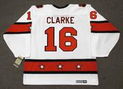"BOBBY CLARKE 1974 CCM Vintage Throwback NHL ""All Star"" Hockey Jersey - Back"