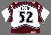 2001 CCM Vintage Throwback ADAM FOOTE Colorado Avalanche Jersey - BACK
