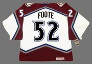 2001 Colorado Avalanche Home CCM Throwback ADAM FOOTE NHL hockey jersey - BACK