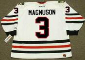 KEITH MAGNUSON Chicago Blackhawks 1977 CCM Throwback Home NHL Hockey Jersey