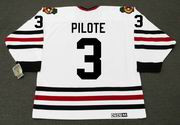 PIERRE PILOTE Chicago Blackhawks 1967 CCM Vintage Throwback NHL Hockey Jersey