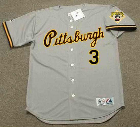 33b8555b JAY BELL | Pittsburgh Pirates 1992 Away Majestic Throwback Baseball Jersey