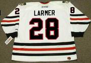 STEVE LARMER Chicago Blackhawks 1990 CCM Throwback Home NHL Hockey Jersey