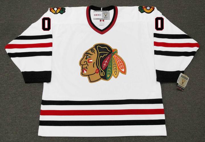 sports shoes 89bb8 4e4fe CLARK GRISWOLD Blackhawks Jersey CCM NHL Vintage Throwback