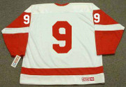 GORDIE HOWE Detroit Red Wings 1962 Away CCM Throwback NHL Hockey Jersey - BACK