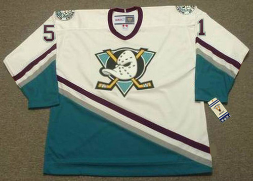 RYAN GETZLAF Anaheim Mighty Ducks 2005 Away CCM NHL Vintage Throwback Jersey - FRONT