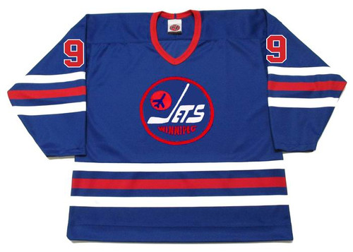 BOBBY HULL Winnipeg Jets 1974 WHA Hockey Throwback Jersey - FRONT