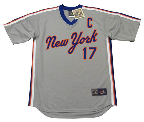 KEITH HERNANDEZ New York Mets 1987 Away Majestic Baseball Throwback Jersey - Front