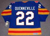 JOEL QUENNEVILLE Colorado Rockies 1980 CCM Vintage Throwback NHL Hockey Jersey