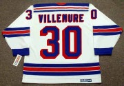 GILLES VILLEMURE New York Rangers 1972 Home CCM Throwback NHL Hockey Jersey - BACK