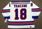 WALT TKACZUK New York Rangers 1972 CCM Throwback Home Hockey Jersey
