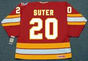 GARY SUTER Calgary Flames 1989 CCM Vintage Throwback Away NHL Hockey Jersey