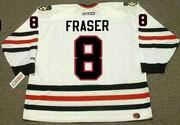 CURT FRASER Chicago Blackhawks 1985 CCM Throwback Home NHL Hockey Jersey