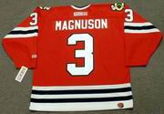 KEITH MAGNUSON Chicago Blackhawks 1977 CCM Throwback Away NHL Hockey Jersey