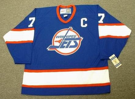 KEITH TKACHUK Winnipeg Jets 1993 Away CCM NHL Vintage Throwback Jersey - FRONT