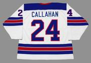 RYAN CALLAHAN 2010 USA Nike Olympic Throwback Hockey Jersey