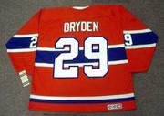 KEN DRYDEN Montreal Canadiens 1973 CCM Throwback NHL Hockey Jersey - BACK