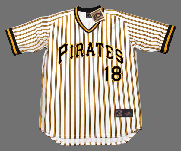 OMAR MORENO Pittsburgh Pirates 1978 Majestic Cooperstown Home Baseball Jersey
