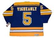 ALAIN VIGNEAULT St. Louis Blues 1982 Away CCM Throwback Hockey Jersey - BACK
