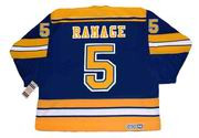 ROB RAMAGE St. Louis Blues 1983 CCM Vintage Throwback NHL Hockey Jersey - BACK