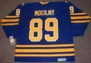 ALEXANDER MOGILNY 1992 Away CCM Vintage NHL Buffalo Sabres Throwback Jersey - BACK