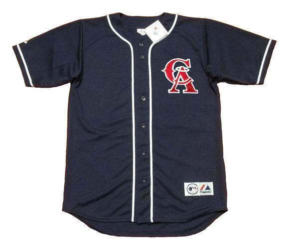 wholesale dealer b3e03 90ea8 TIM SALMON California Angels 1995 Alternate Majestic Baseball Throwback  Jersey