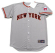 WILLIE MAYS New York Giants 1951 Away Majestic Baseball Throwback Jersey - FRONT