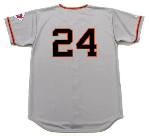 WILLIE MAYS New York Giants 1951 Away Majestic Baseball Throwback Jersey - BACK