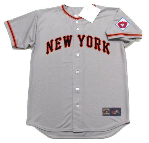 huge discount c5e86 a2067 LEO DUROCHER New York Giants 1951 Majestic Throwback Away Baseball Jersey