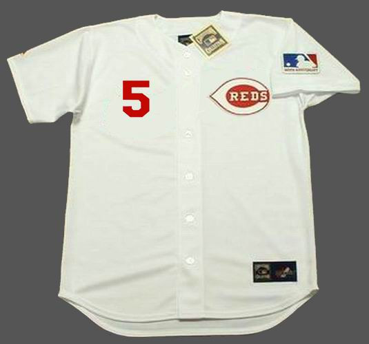 the latest dc543 1e3fb JOHNNY BENCH Cincinnati Reds 1969 Majestic Cooperstown Home Baseball Jersey