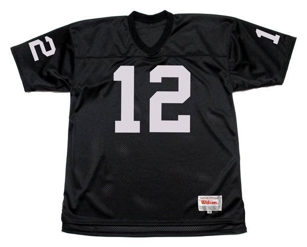 hot sale online 1b86b a1a17 KEN STABLER Oakland Raiders 1976 Home Throwback NFL Football Jersey