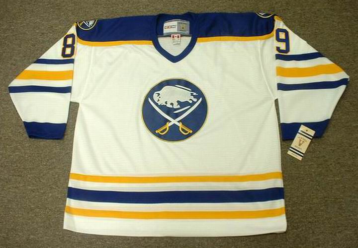 2346ed2c98c ALEXANDER MOGILNY 1992 Home CCM Vintage NHL Buffalo Sabres Throwback Jersey  - BACK. See 3 more pictures