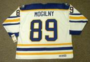 ALEXANDER MOGILNY 1992 Home CCM Vintage NHL Buffalo Sabres Throwback Jersey - BACK