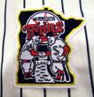 KENT HRBEK Minnesota Twins 1991 Majestic Throwback Home Baseball Jersey - Crest