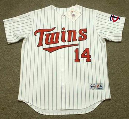 KENT HRBEK Minnesota Twins 1991 Majestic Throwback Home Baseball Jersey - Front