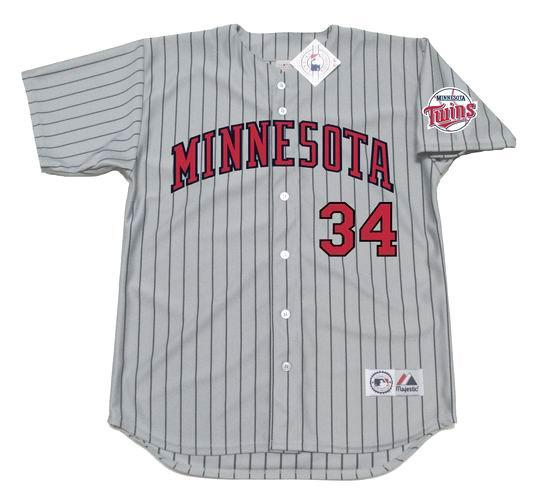 best service 51803 e37bc KIRBY PUCKETT Minnesota Twins 1991 Away Majestic Baseball Throwback Jersey