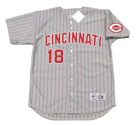 BENITO SANTIAGO Cincinnati Reds 1995 Majestic Throwback Away Baseball Jersey