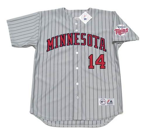 KENT HRBEK Minnesota Twins 1991 Majestic Throwback Away Baseball Jersey - Front
