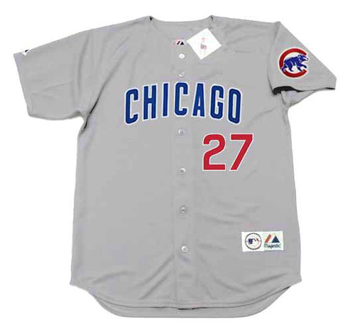 Addison Russell 2016 Chicago Cubs Majestic MLB Throwback Away Jersey - FRONT