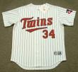 KIRBY PUCKETT Minnesota Twins 1991 Majestic Throwback Home Baseball Jersey - FRONT