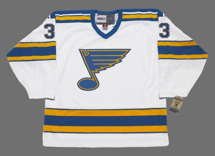 size 40 c8116 ae6f2 BOB GASSOFF St. Louis Blues 1975 CCM Vintage Throwback NHL Hockey Jersey