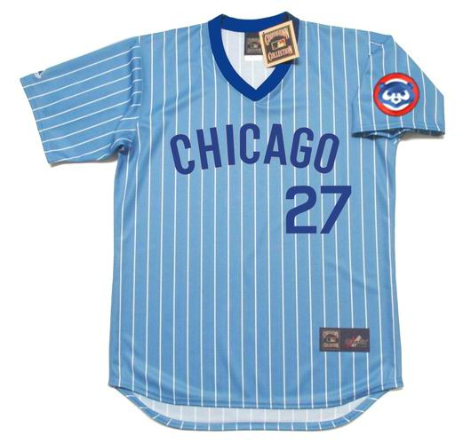 0f536bc1 Home · Baseball Jerseys · Chicago Cubs; ADDISON RUSSELL Chicago Cubs 1980's Majestic  Cooperstown Throwback Jersey. Image 1